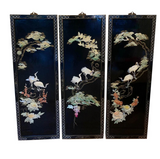 Set of 3 Mid Century Mother of Pearl Chinese Wall Panels