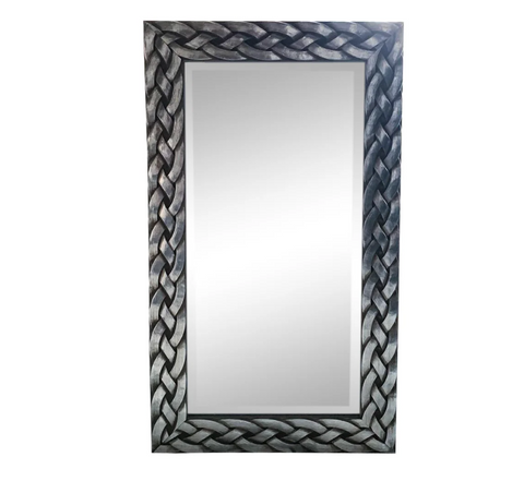 Aluminum Finish Braided Mirror