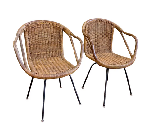 Pair, Mid Century Calif-Asia Chairs