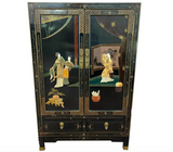 Mid Century Chinese Lacquered Cabinet