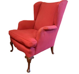 Wingback Chair in Red