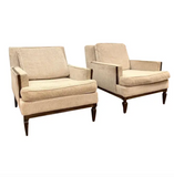 Pair, Mid Century Club Chairs on Beige