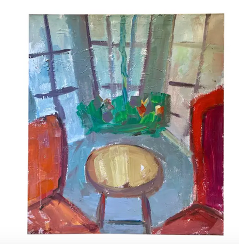 Mid Century Painting - Take a Seat