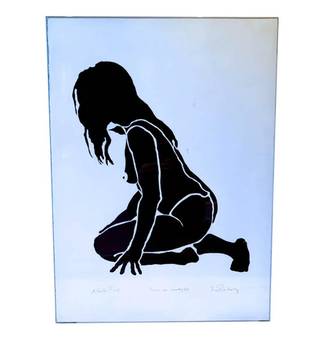 Original Mid Century Frank Herz Silkscreen - Signed and Titled Figure Six Seventy Five