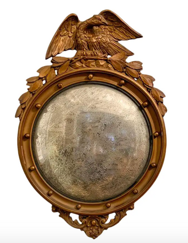 Antique Convex Mirror - Federal Style Bald Eagle