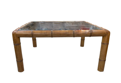 Mid Century Faux Bamboo Coffee Table