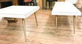 Mid Century Pencil Leg White Coffee Table