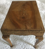 Antique English Queen Anne Applewood Footstool, Small Table