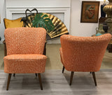 Pair, Mid Century German Bartholomew Cocktail Club Chairs