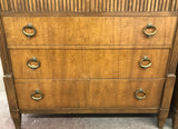 Baker Mid-Century French Regency Style Tambour Door Tall Chest