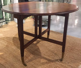 Mid-Century Expandable Drop Leaf Gate Leg Table