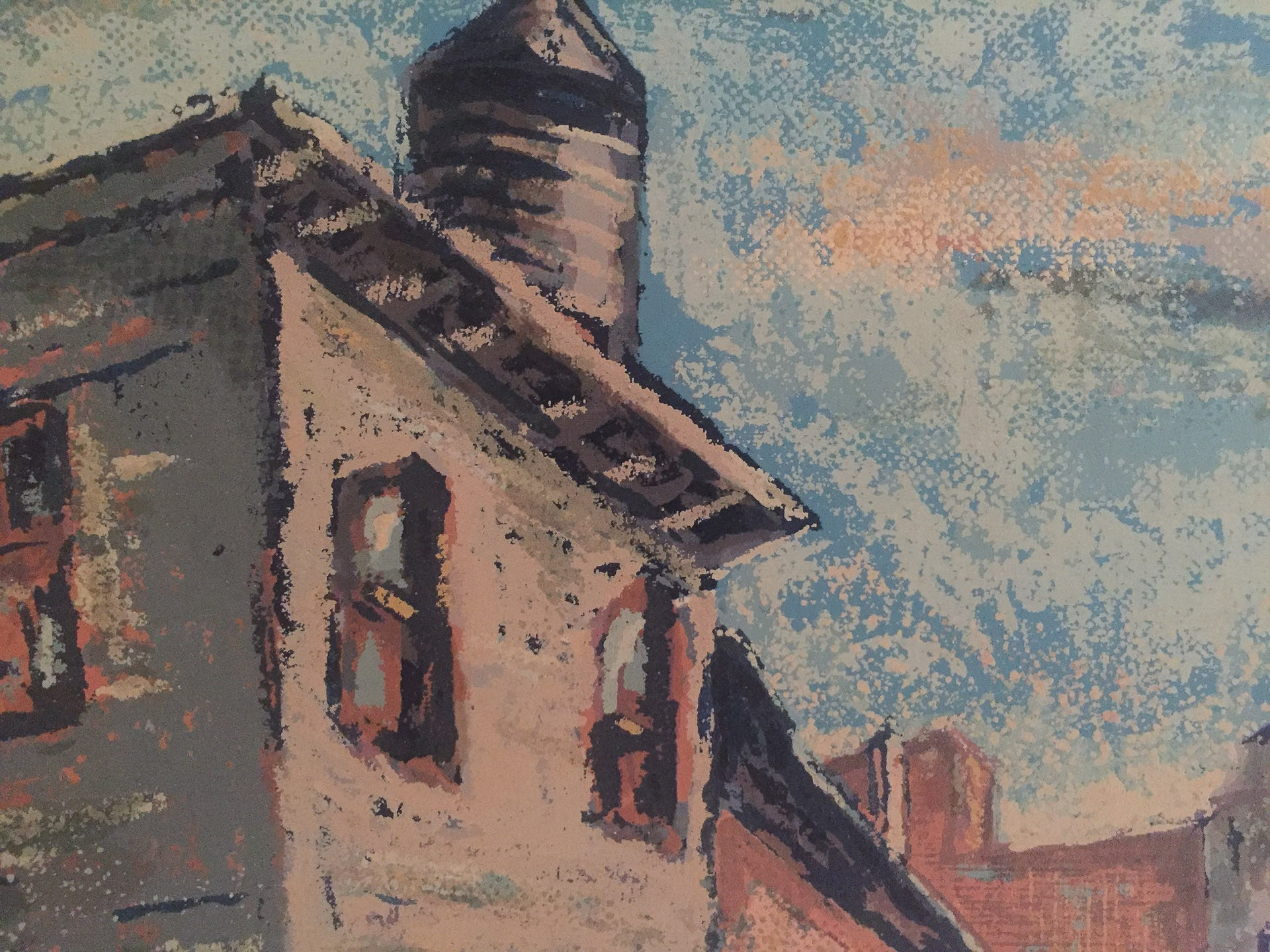 Listed Artist, Harry Shoulberg Streetscape Painting - 1930's, Wpa, New Deal Era