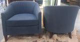 Pair, Mid Century Blue Club Chairs