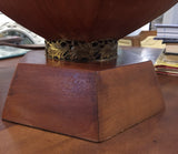 Large Mid Century Wood Sculptural Lamp