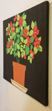 Mid Century Marimekko style Fabric Panel, Wall Art