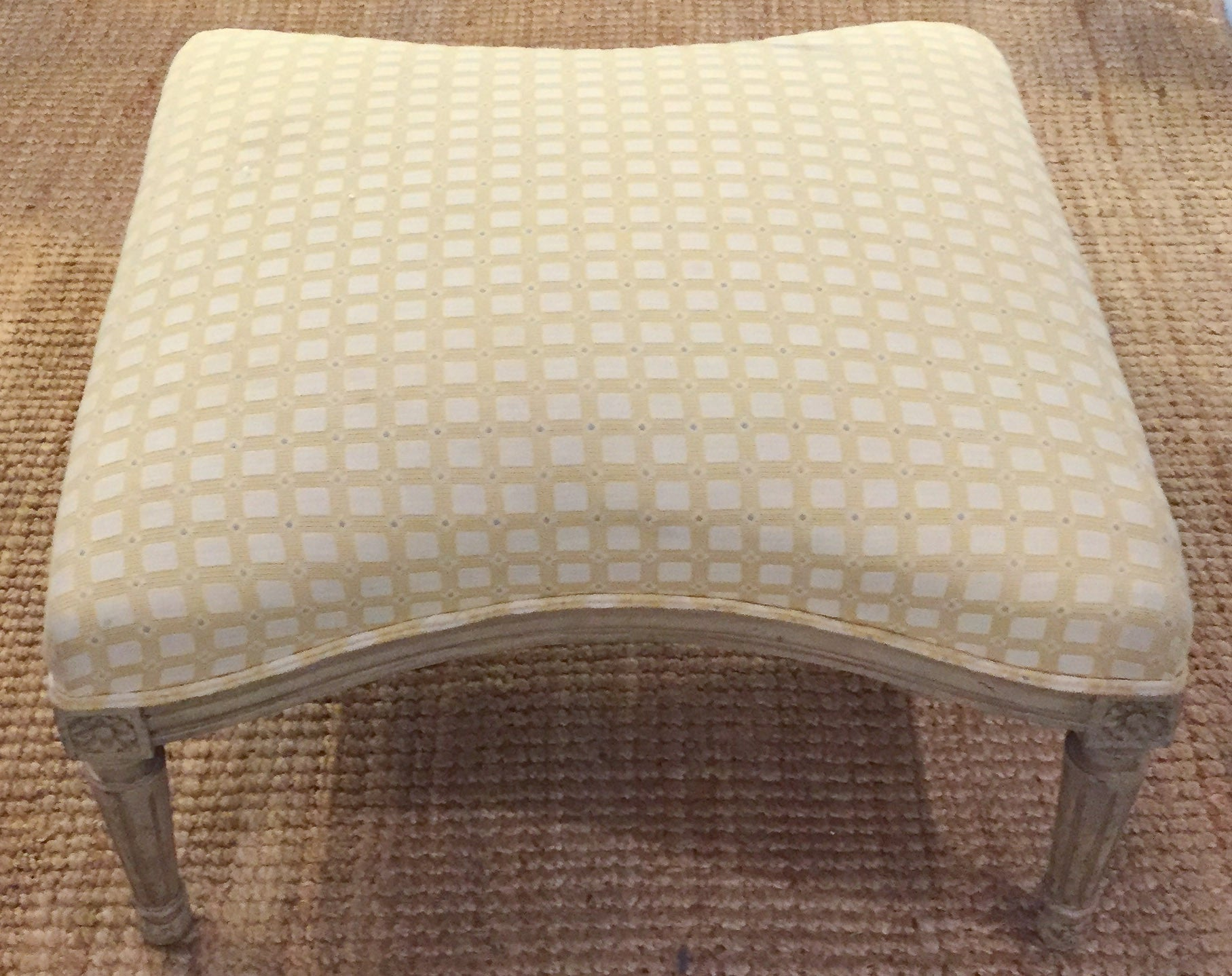 Mid-Century Hollywood Regency Bow Tie Shape Ottoman