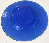 Vintage Cobalt Blue Glass Plate, Serving Dish