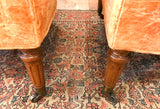 Pair, Mid Century Signed Henredon Contoured Back Club Chairs