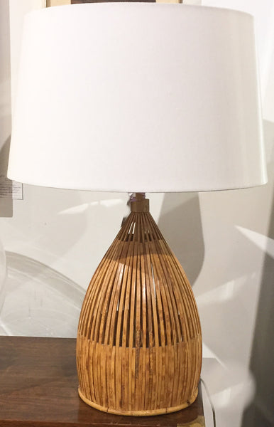 Mid Century Bamboo Table Lamp
