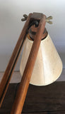 Mid Century Wood Architectural Desk Lamp