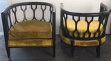 Pair, Mid Century Hollywood Regency Club Chairs - D Becker and Sons