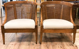 Pair, Mid Century American of Martinsville Caned Chairs