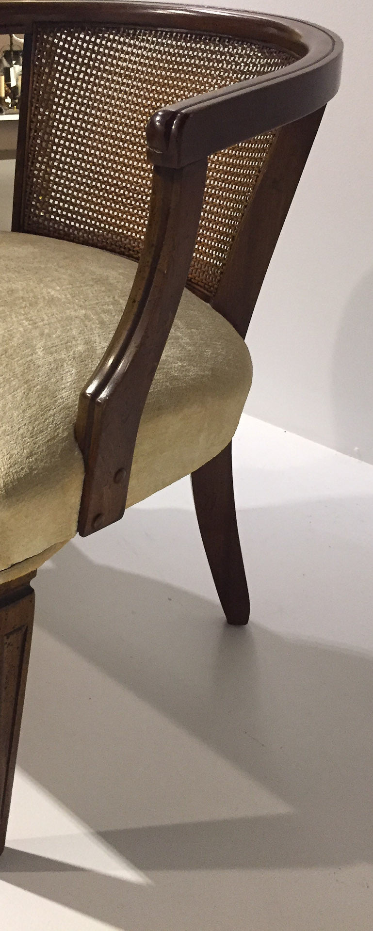 Pair, Mid Century Caned Back Arm Chairs