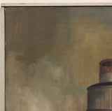 Mid Century Lighthouse, Seaside Painting, Connecticut Artist Tod Johnstone '64