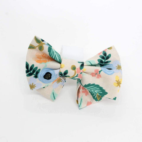 Birch Blush Floral - Medium Pet Bow