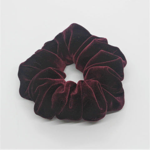 Deep Burgundy Velvet Scrunchie