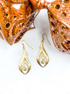 24k Gold Plated Swirl Earrings