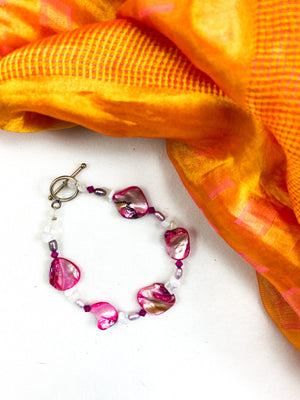 Pink Mother of Pearl Bracelet