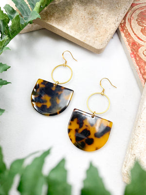 Warm Tortoise Shells on Hoops