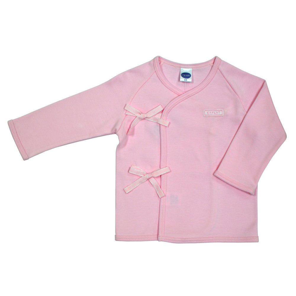 Enfant Long Sleeves Tie-Side Shirt, Pink