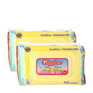 Load image into Gallery viewer, Giggles 2-pack Baby Wipes Unscented