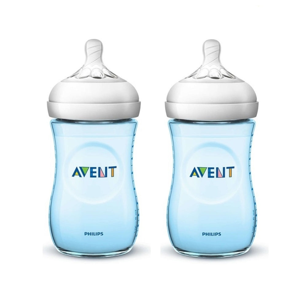 Philips Avent Natural Bottle 9oz Twin - Blue