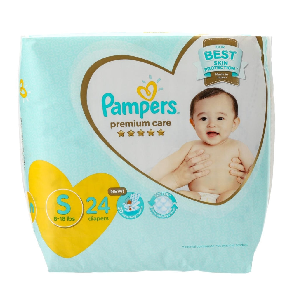 Pampers Premium Care Taped Diapers Economy Pack Small 24s
