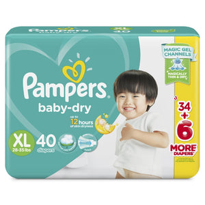 Pampers Baby Dry Taped Diapers Jumbo Pack X Large 40s
