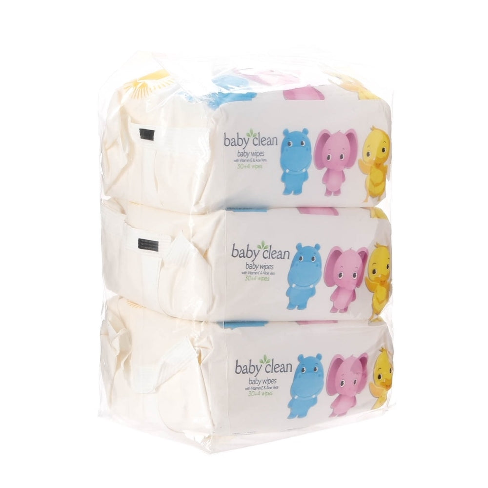 Baby Clean 3-pack Wipes 30+4's