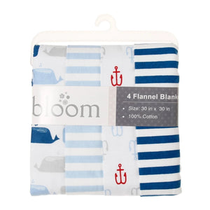 Bloom 4-pack 75x75cm 100% Cotton Flannel Blankets