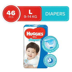 Huggies Dry Taped Diapers Large 46s
