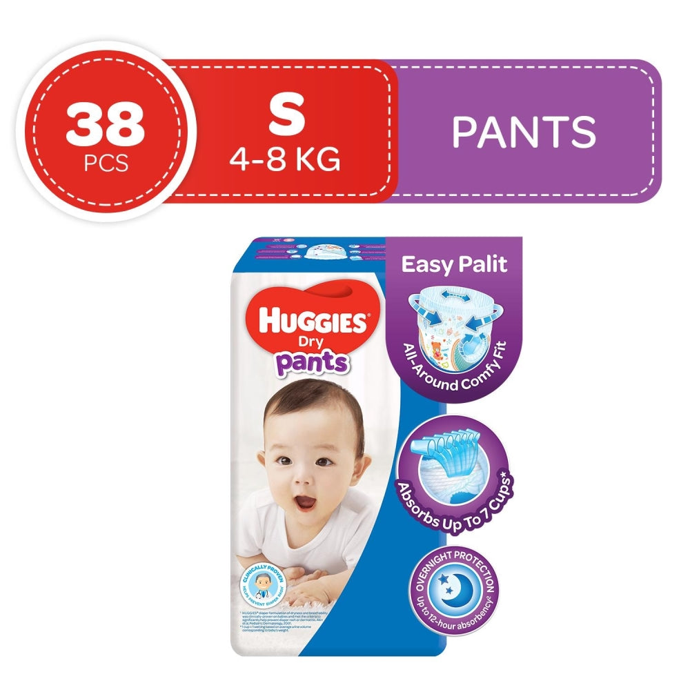 Load image into Gallery viewer, Huggies Dry Pants Diapers Small 38s