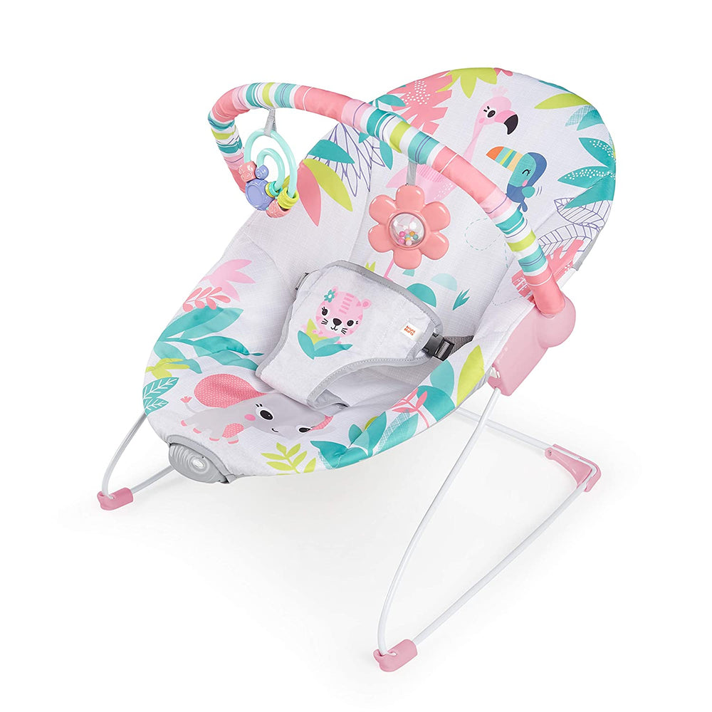 Bright Starts Flamingo Vibes Vibrating Bouncer