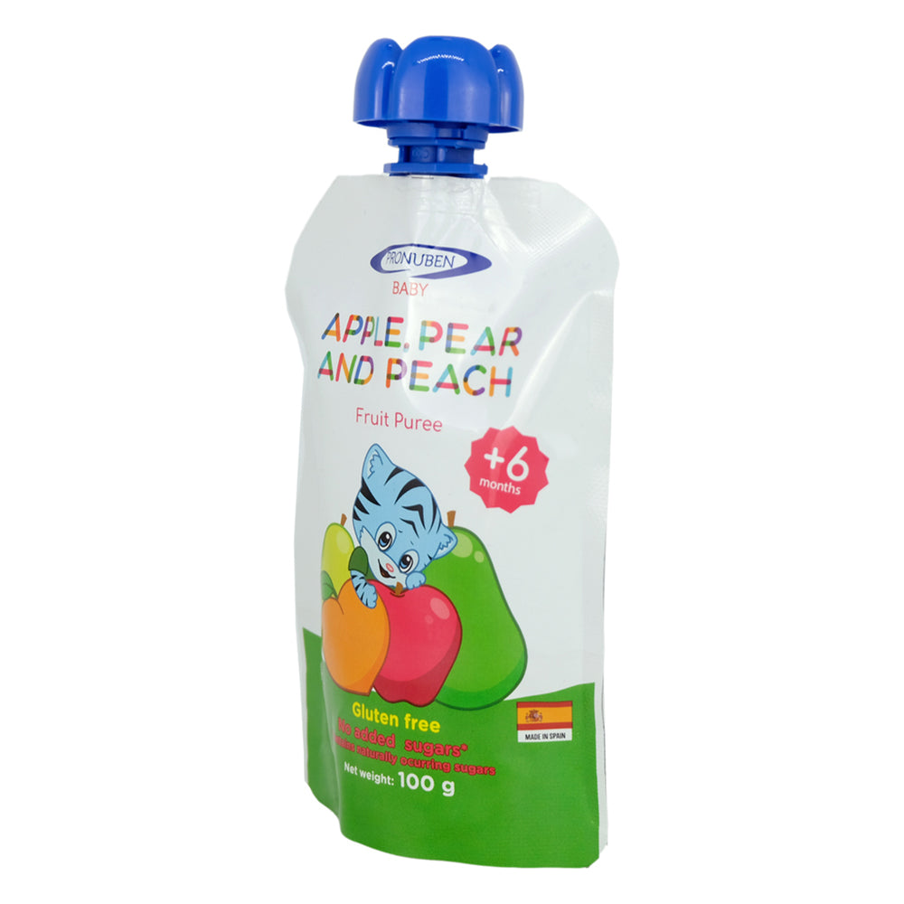 Pronuben Baby Apple, Pear and Peach Fruit Puree 100g