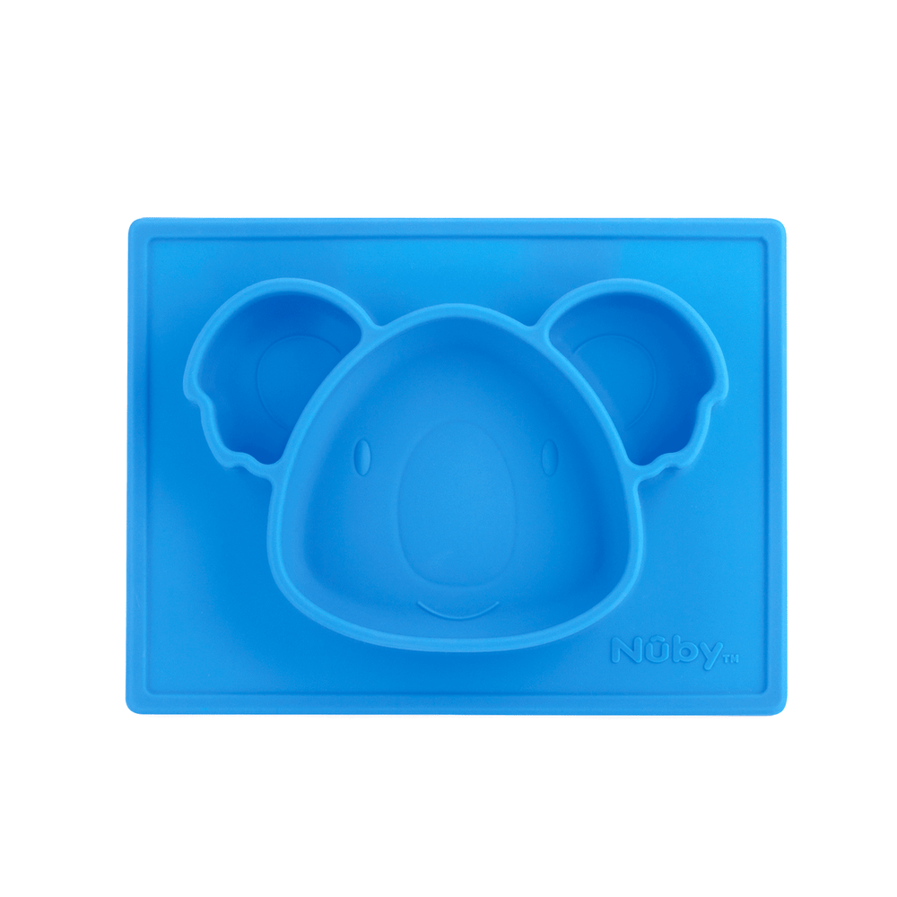 Nuby Sure Grip Silicone Animal Mat - Blue