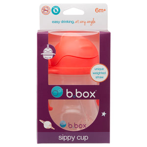 B.BOX Sippy Cup with Innovative Weighted Straw-Watermelon