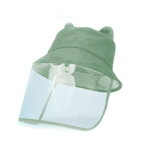 Load image into Gallery viewer, 2D Bucket Hat Face Shield, Green