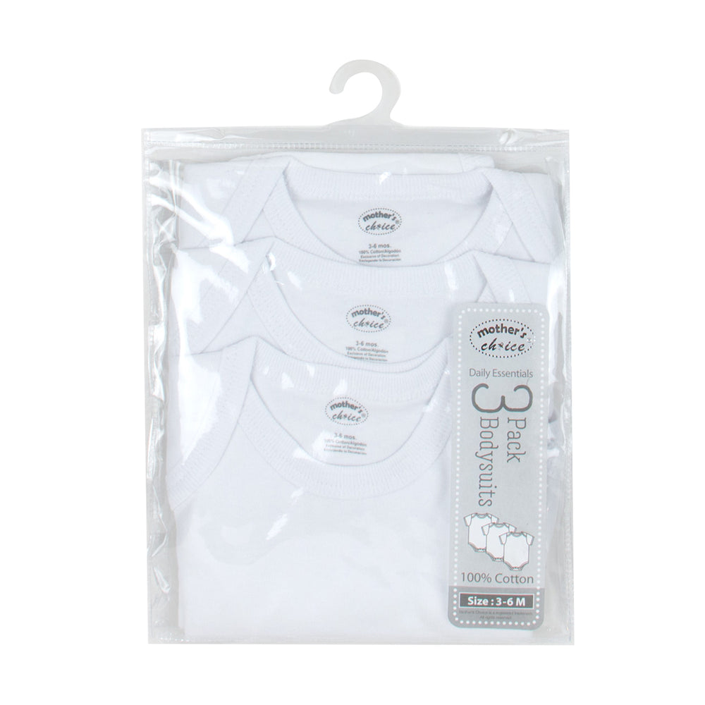 Mother's Choice 3-Pack Sleepsuit, White Series