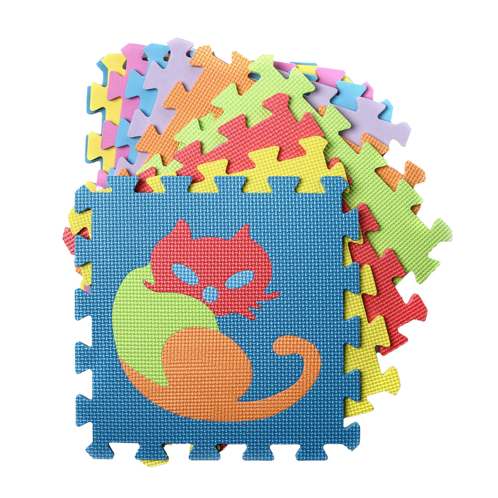10-Piece Puzzle Mat, Animals