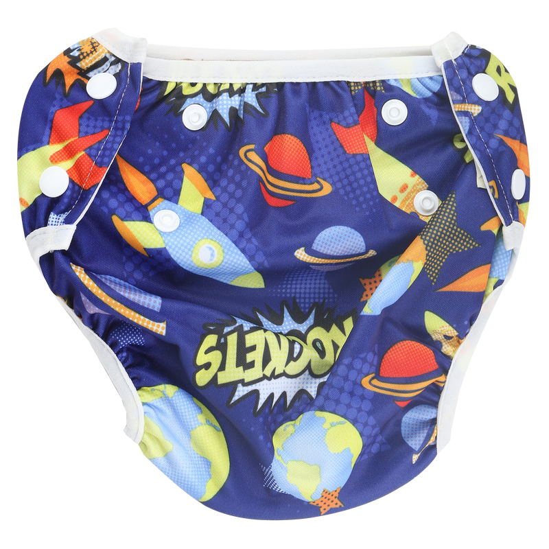 Belle & Coco 2-in-1 Swim Diaper - Rocket Blue